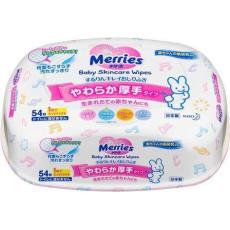 Салфетки Merries влажные для новорождённых бокс 54шт, фото 1