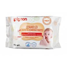 Салфетки Pigeon детские для рук и рта,для обработки пустышек, игрушек упаковка 70шт, фото 1